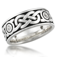 Diamond Sailor's Knot Eternity Wedding Band