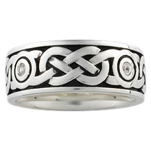 Diamond Sailor's Knot Eternity Wedding Band - top view