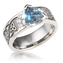 Celtic Knot Trinity Engagement Ring