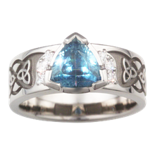Celtic Knot Trinity Engagement Ring  - top view