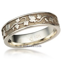 Eternity Grape Vine & Leaf Wedding Band