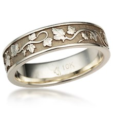 eternity grape vine leaf this unique wedding band - Leaf Wedding Ring