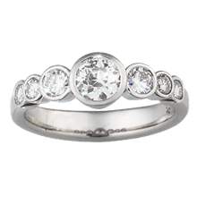 Seven Stone Anniversary Ring - top view
