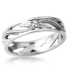 Leaves and Berries Wedding Band
