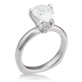 Pear Pave Prong Engagement Ring