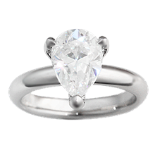 Pear Pave Prong Engagement Ring - top view