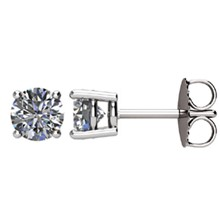 1 CTW Diamond Earrings