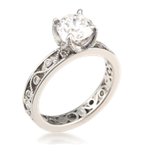 Millegrain Curls Engagement Ring 2