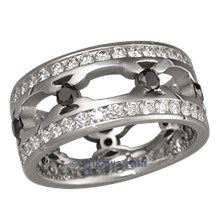Tribal Double Diamond Thorn Ring