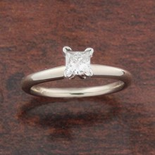 0.31ct Solitaire Engagement Ring - top view
