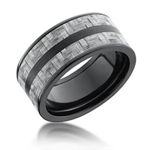 Two Stripe Carbon Fiber Band