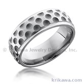 golf ball band - Sports Wedding Rings