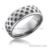 golf ball band - Sports Wedding Rings