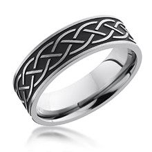 Black Antique Celtic Knot Band