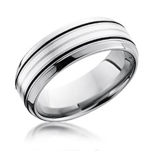 Double Silver Inlay Band