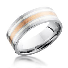 Silver & Gold Inlay Band