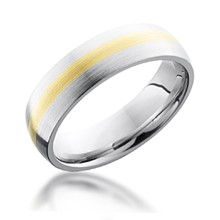 2mm Center Gold Inlay Band