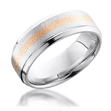 2mm Center Gold Inlay Band with Beveled Edge