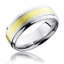 Beveled Edge 3mm Gold Inlay Band