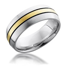 Darkened Groove Gold Inlay Band