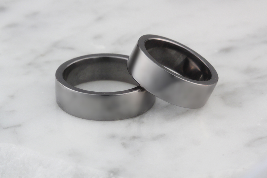 Rare Element Tantalum Wedding Bands