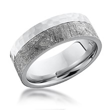 Hammered Two-Tone Meteorite Band