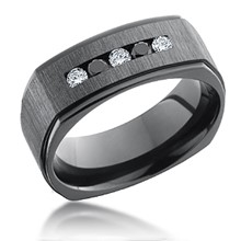 Square Five Diamond Channel Band
