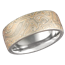 Champagne Mokume Gane Wedding Band with a Heavy Etch