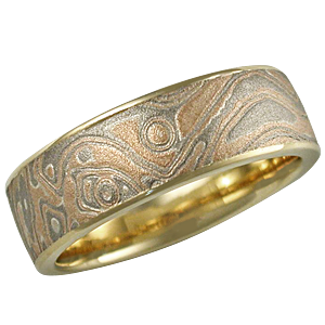 mokume gane wedding ring sets by andrew nyce designs our unique mokume ...