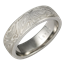Platinum Mokume Gane Wedding Band with Light Etch