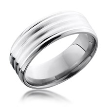 6mm Silver Inlay Ripple Band