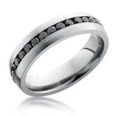 Diamond Center Channel Eternity Band