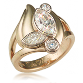 Marquise Bevel Anniversary Ring