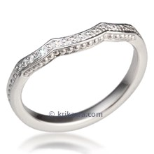 Micro Pave Curved Wedding Band 0.10ctw