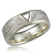 Macle Mokume Wedding Band