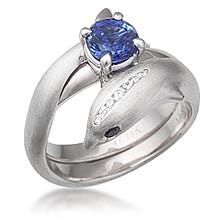 dolphin bridal set - Dolphin Wedding Rings