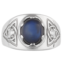 Celtic Knot Men's Ring - top view
