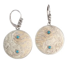 Yin Yang Mokume Earrings