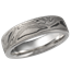 Darkened White Mokume Wedding Band
