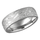 Light Etch Wedding Band