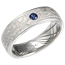 White Mokume Wedding Band with Sinusoidal Wave