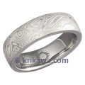 Palladium Mokume Wedding Band