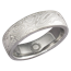 Platinum Mokume Gane Wedding Band with Symbol