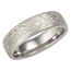 Platinum Mokume Band with a Light Etch and Micro-edge