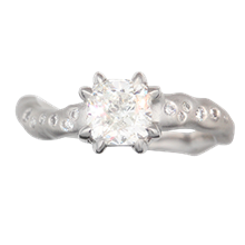 Single Branch Engagement Ring - top view