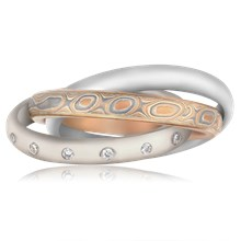 Mokume Rolling Ring - top view