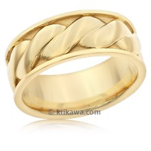 Twist Mens Wedding Band