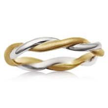 Tight Twist Wedding Band - top view