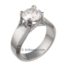 Modern Juicy Solitaire Engagement Ring