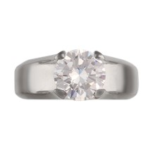 Modern Juicy Solitaire Engagement Ring - top view